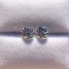 2.27ctw Transitional Cut Diamond Pair, GIA H VS2 3