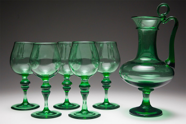 goblets from recycled glass