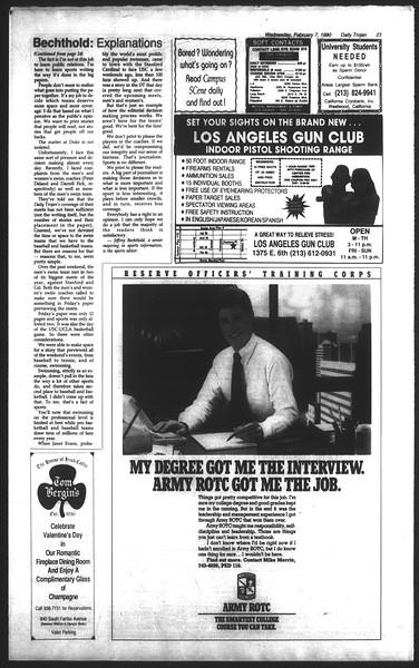 Daily Trojan, Vol. 111, No. 19, February 07, 1990