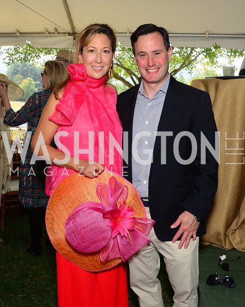 Dina Mackney and Kenny Kline,  NVTRP Ride to Thrive Polo Classic, Great Meadow, Sep 28, 2019, photo by Nancy Milburn Kleck