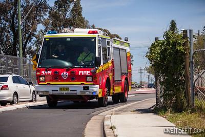 Fire - Grass Fire, Regents Park NSW Nov 2014