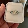 2.10ct Art Deco Peruzzi Cut Diamond Ring, GIA W-X SI2 40