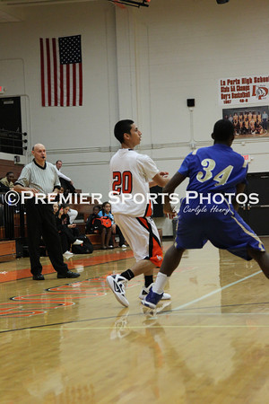 La Porte Boys Varsity Basketball vs Elkins12/16/2011