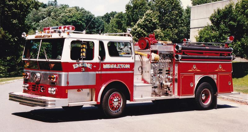 Retired Engine 3.  1979 Ward LaFrance.  1250 / 500