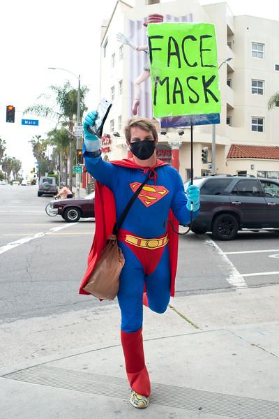 Superman Flies to Help Los Angeles