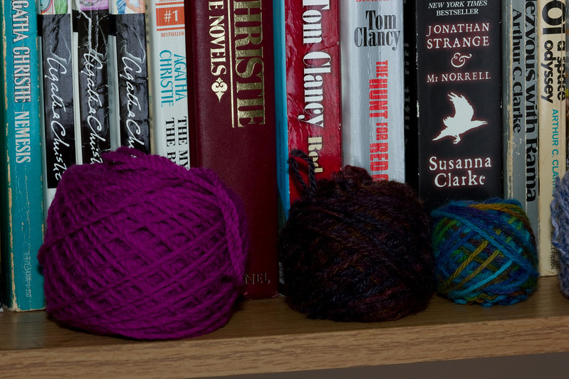 Yarn as home decor.