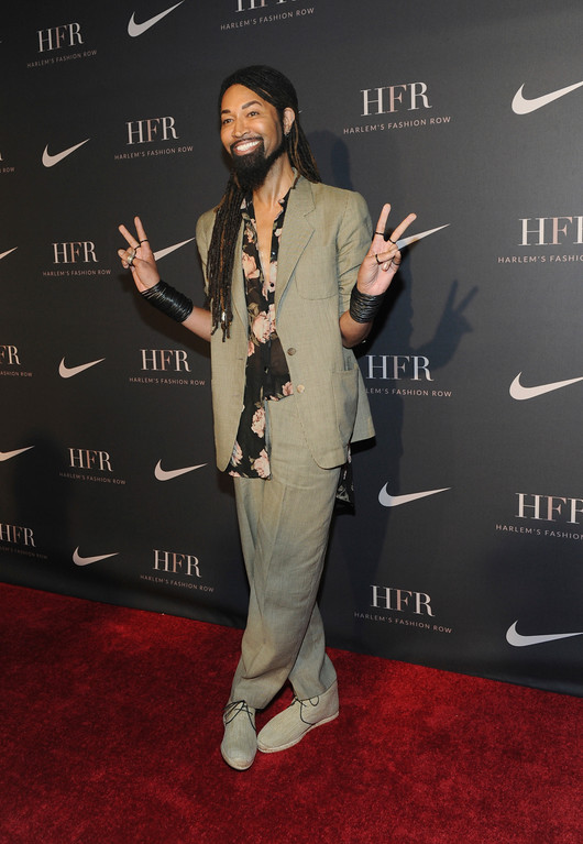 . Stylist Ty Hunter attends a fashion show and awards ceremony held by the Harlem Fashion Row collective and Nike before the start of New York Fashion Week, Tuesday, Sept. 4, 2018. (AP Photo/Diane Bondareff)