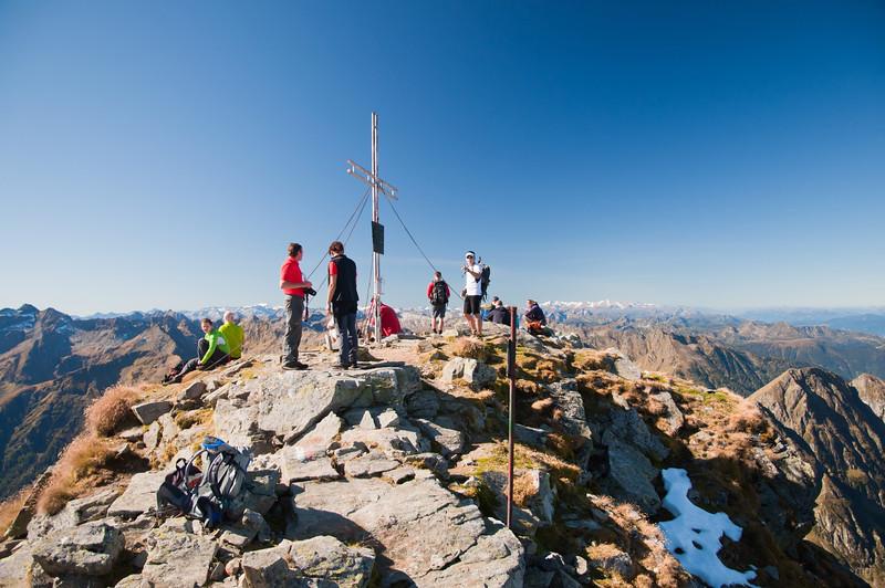am Ziel angelangt: Höchstein (2.543m)