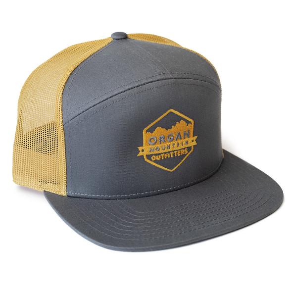 Organ Mountain Outfitters - Outdoor Apparel - Hat - 7 Panel Trucker Cap - Grey Mustard.jpg