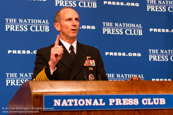 Chief of Naval Operations Adm Jonathan Greenert, U.S. Navy, National Press Club Speakers Luncheon