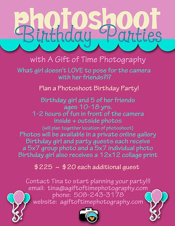 Photo Shoot Birthday Parties