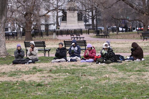 White House, Lafayette Park and Freedom Plaza Sunday Jan 29, 20012