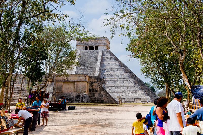 El Castillo from Sacbe ( a ceremonial road) Number One, Chichen Itza