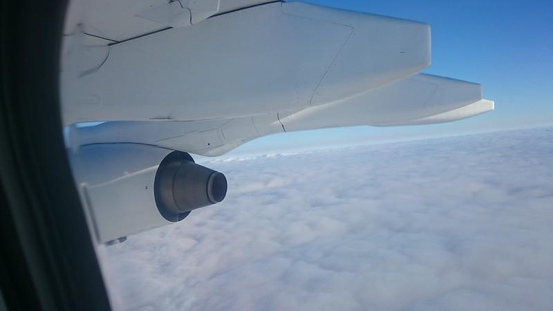 outboard view, Avro RJ85, Cityjet