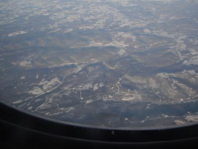 Flight Over Alaska from Minnesota to Philippines