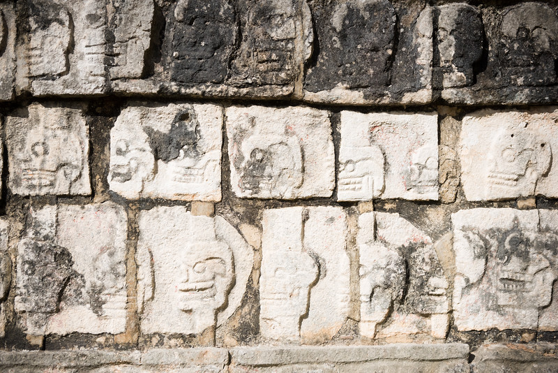 Tzompantli, Temple of the Skulls, Chichén Itzá
