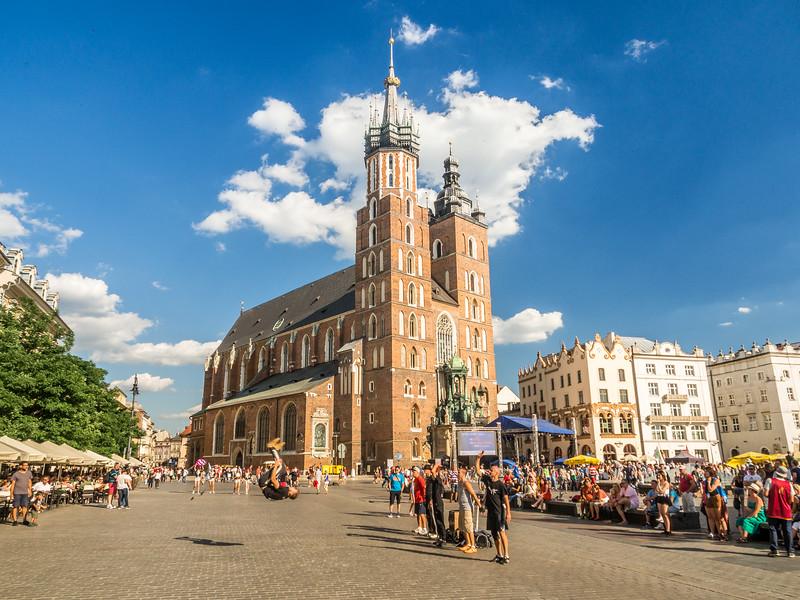 Street Performers in Rynek Square, Kraków, Poland