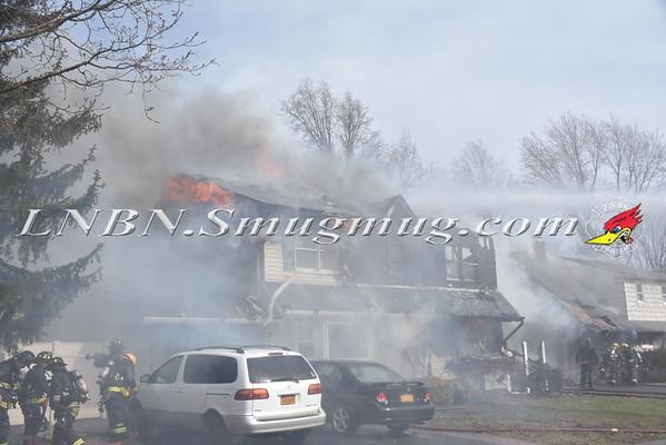Hicksville F.D. Double House Fire 21 & 23 Alpine Lane 3-31-16