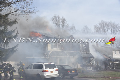 Hicksville F.D. Double House Fire 21 & 23 Alpine Lane 3-31-16