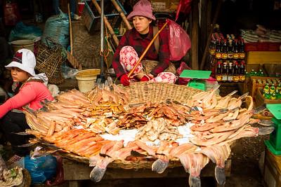 Psar Leu Market in Siem Reap, Cambodia