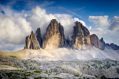 Dolomity - Monte Paterno - Tre Cime - červen 2018