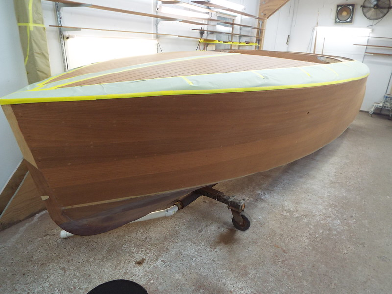 Port side ready for stain.