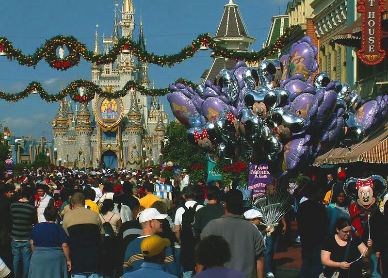 Main Street in Disney's Magic Kingdom, Florida, December 2005.