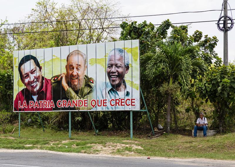 Cuban Billboard - La Patria Grande Que Crece