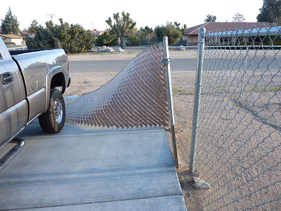 Chain Link Fence Damage