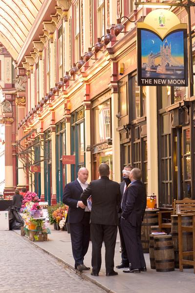 Leadenhall Market in the City, London, United Kingdom