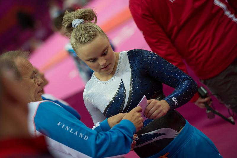 Annika Urvikko at London olympics 2012__29.07.2012_London Olympics_Photographer: Christian Valtanen_London_Olympics_Annika Urvikko at London olympics 2012_29.07.2012__ND40187_Annika Urvikko, finnish athlete, gymnastics