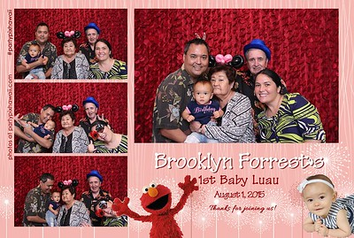 Brooklyn Forrest's 1st Birthday (Mini Open Air Photo Booth)