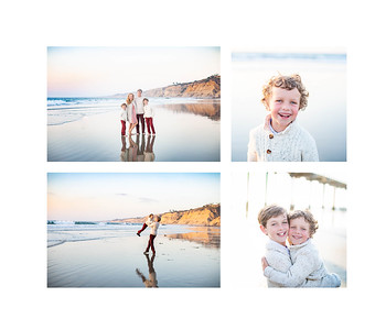 La Jolla Family Beach Portraits - low tide Scripps Pier Sunset - The Wrights November 2018