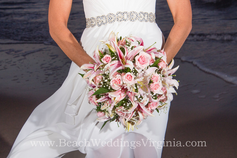 pink roses, stargazer lilies and babys breath