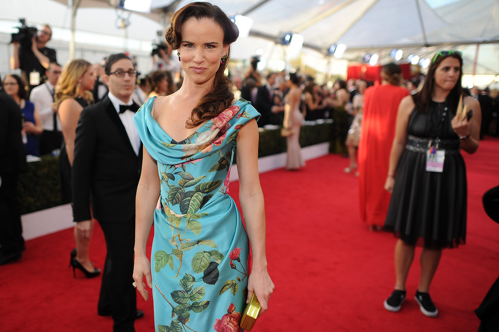. Juliette Lewis on the red carpet at the 20th Annual Screen Actors Guild Awards  at the Shrine Auditorium in Los Angeles, California on Saturday January 18, 2014 (Photo by Hans Gutknecht / Los Angeles Daily News)