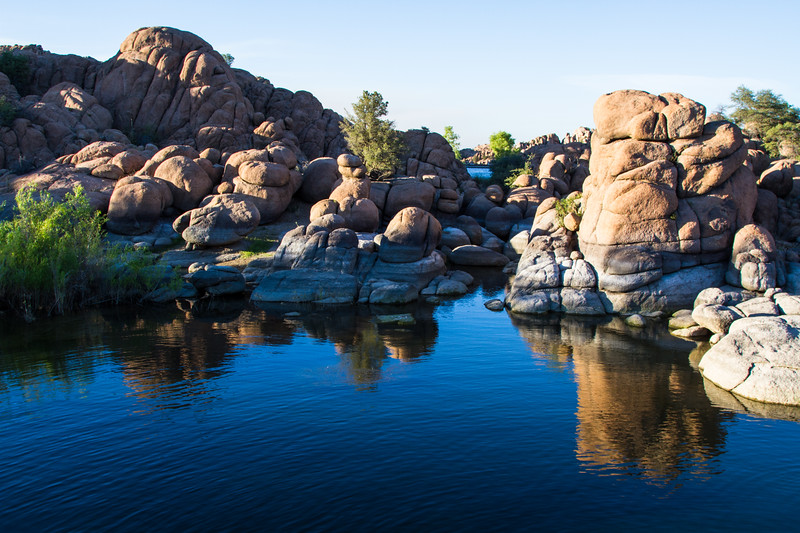 The Dells at Watson Lake. Granite boulder formations at Watson Lake just outside Prescott Az.