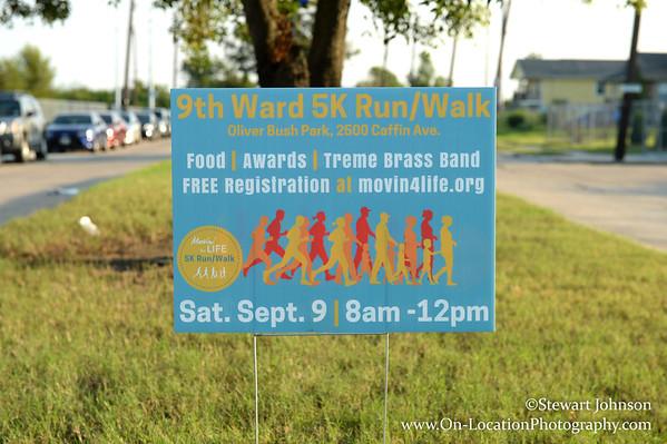 9th. Ward 5K run
