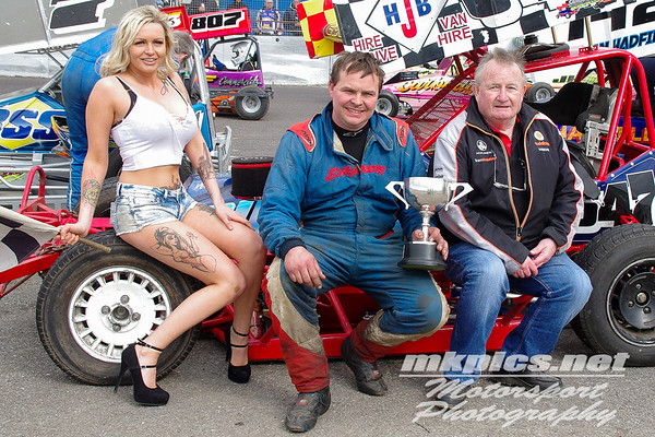 BriSCA F2 Stockcars - Northampton 14 April 2017