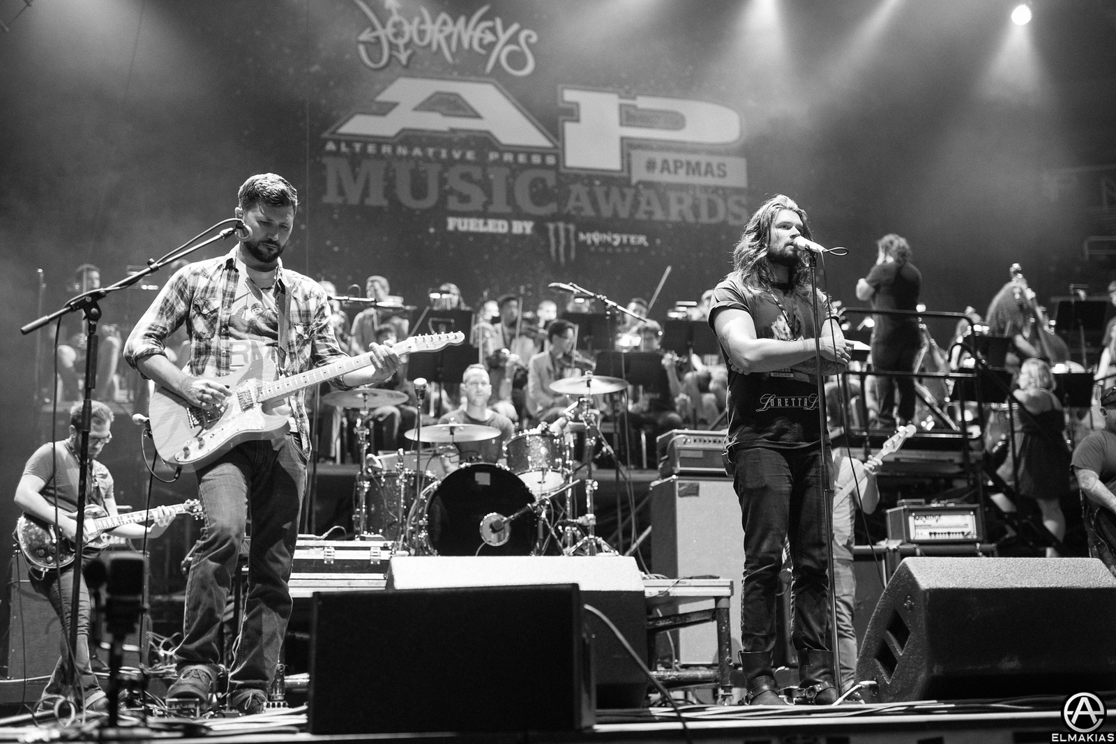 Taking Back Sunday at rehearsals for the Alternative Press Music Awards 2015 by Adam Elmakias