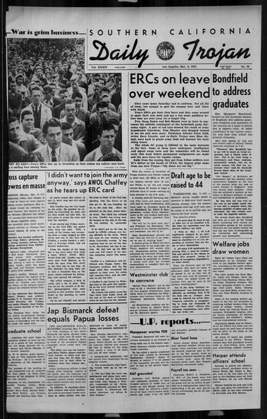Daily Trojan, Vol. 34, No. 99, March 08, 1943