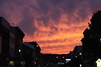 Evening Sky Above Downtown Tamaqua (9-22-2011)