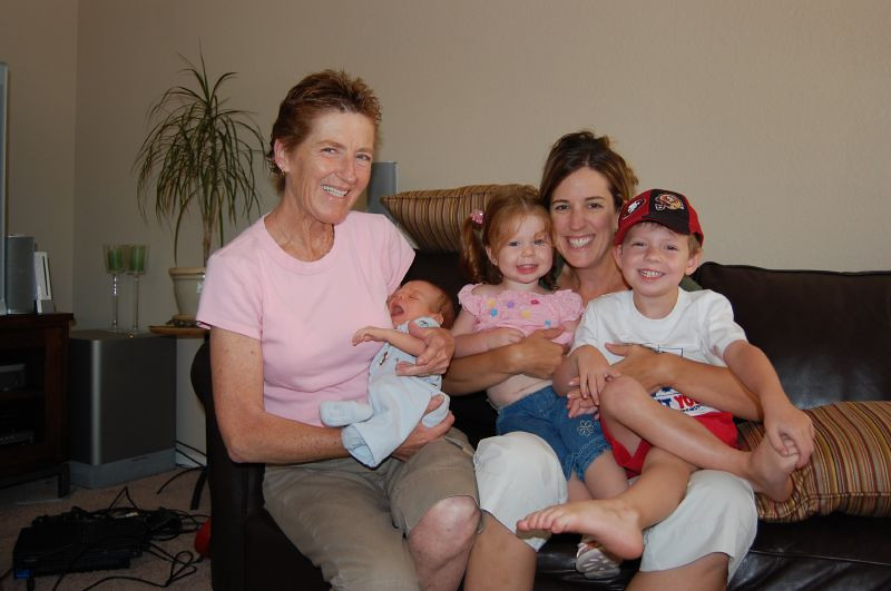 Elliot, Grandma, Auntie and Cousins