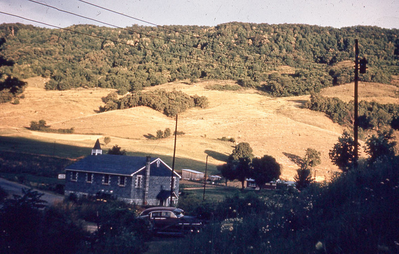 september 1966-''EVENING SHADOW ON WALLENS CREEK CHURCH''.jpg