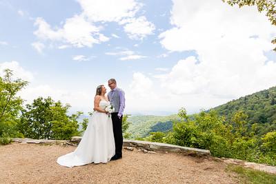 Katie & Ja | Buck Spring Gap Overlook Elopement Photography in Asheville