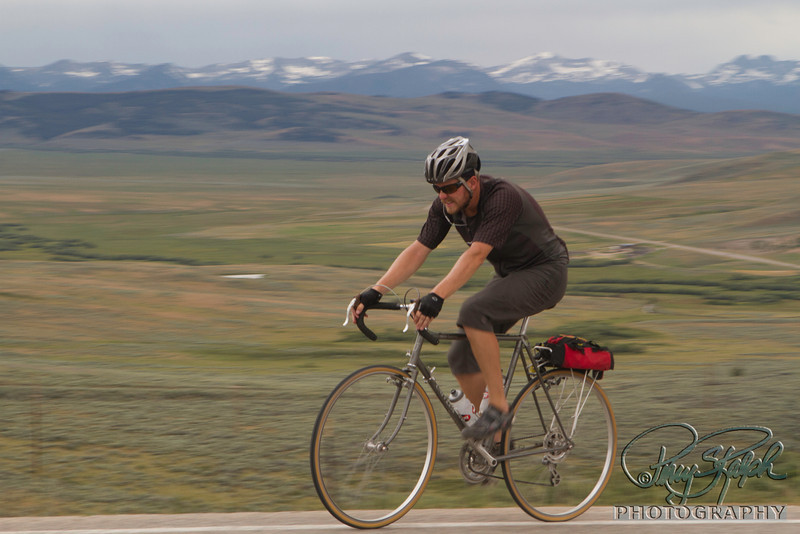 2011 Bike Tour - Day 7 Jason Climbing in Montana