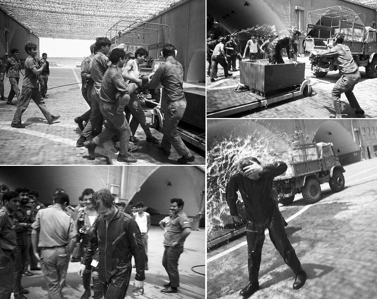 """אפריל 1972 - הוטס ע""""י ספקטור מפקד טייסת התחזוקה של הבסיס, גד סנדק. מתוך האוסף של יוסי יערי."""