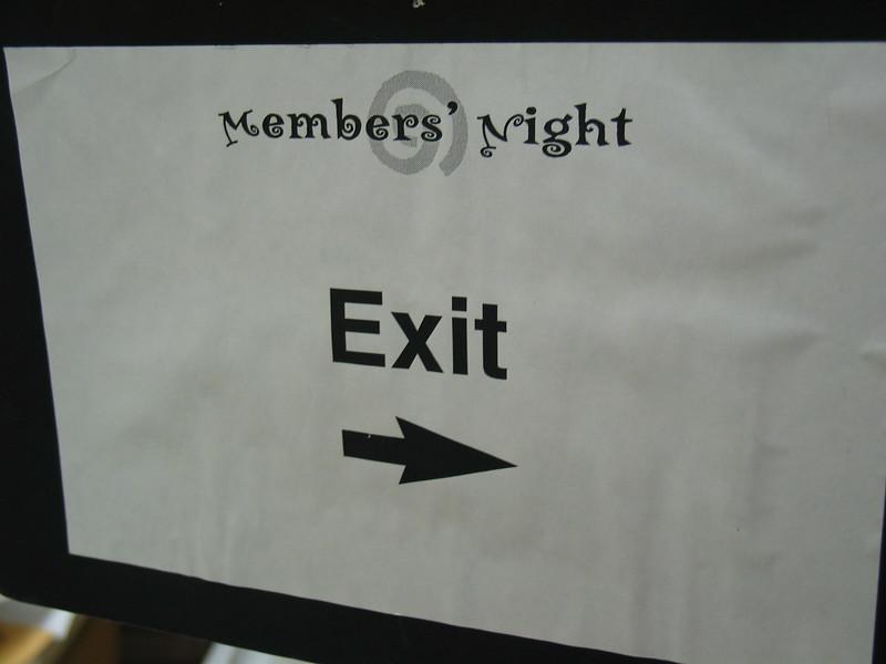 Member's Night - Exit