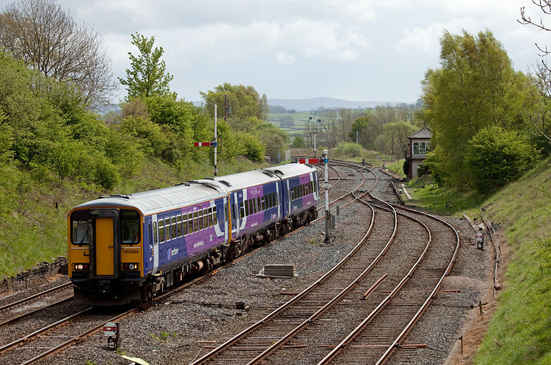 153 304 bound for Carlisle in Settle Jct.