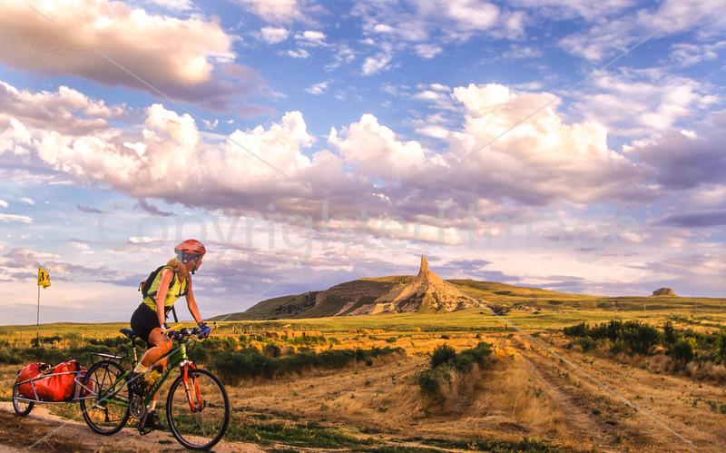 Chimney Rock National Historic Site, Nebraska - Biking