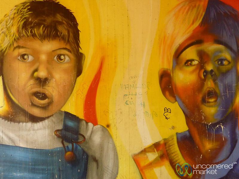 Boys Together - Street Art in Berlin, Germany
